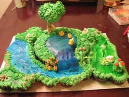 Spring Pond Cake 5 by Cherieosaurus