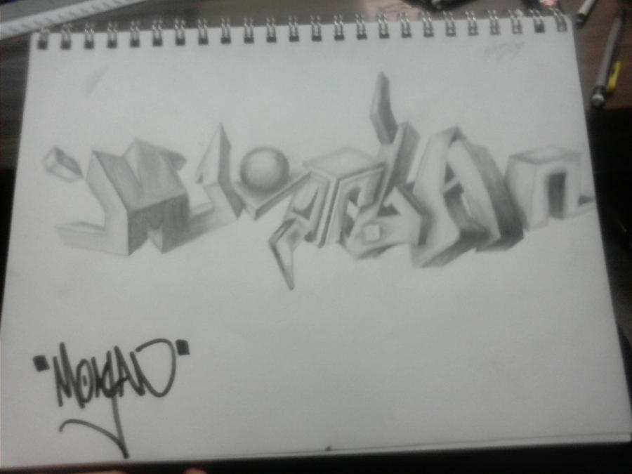 Graffiti Art Sketches 3d 3d Graffiti Sketch by