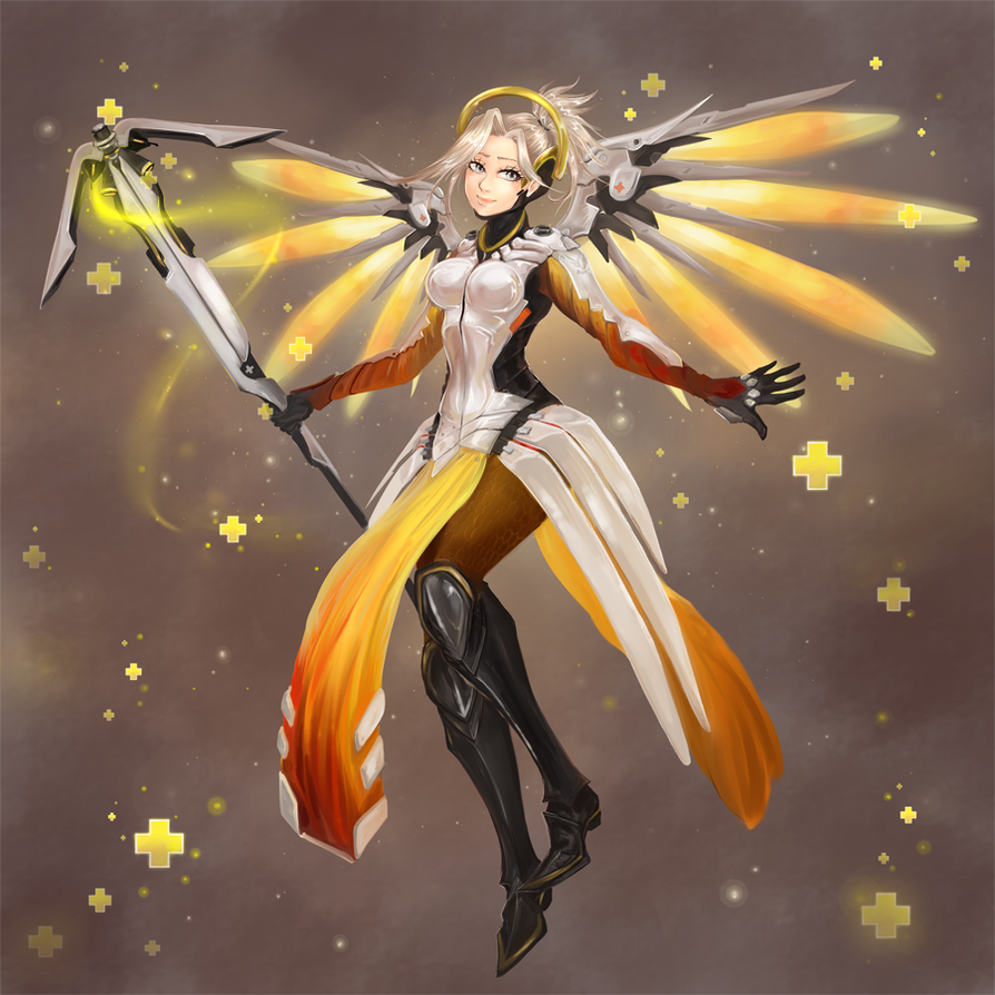 Overwatch Mercy Heroes Never Die By Ainiwaffles On Deviantart