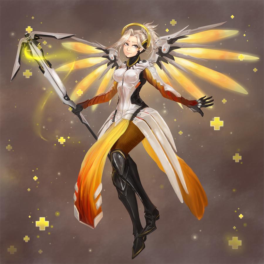 Overwatch Mercy: Heroes Never Die by Ainiwaffles