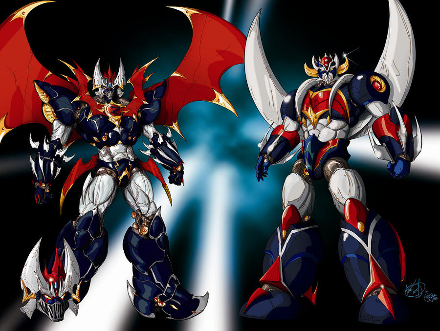Mazinkaiser and Grendizer by gwydion1982
