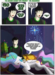 An awkward moment with Celestia