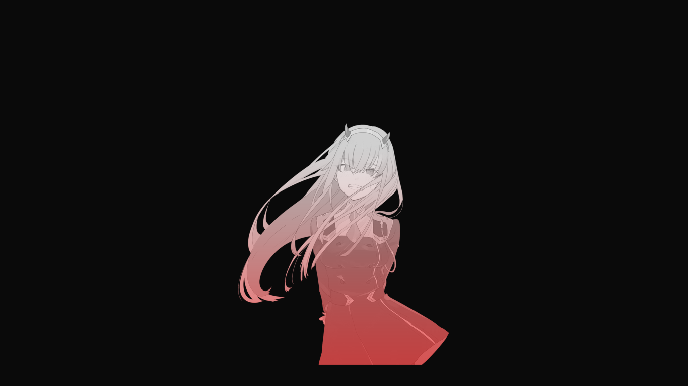Zero Two Black Wallpaper By Atlasdub On Deviantart