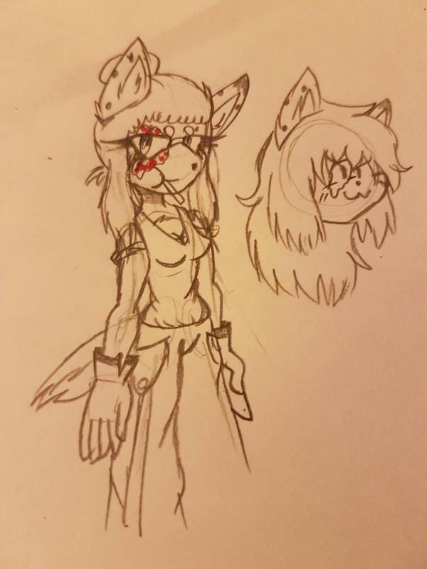pyro (cindy) the hyena  by Mialindlen-son