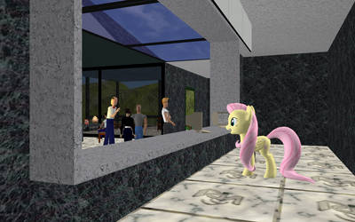 Fluttershy ported for use in Activeworlds