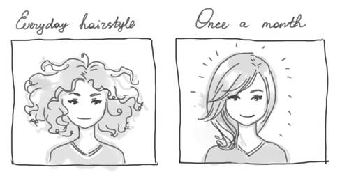Problem of curly hair
