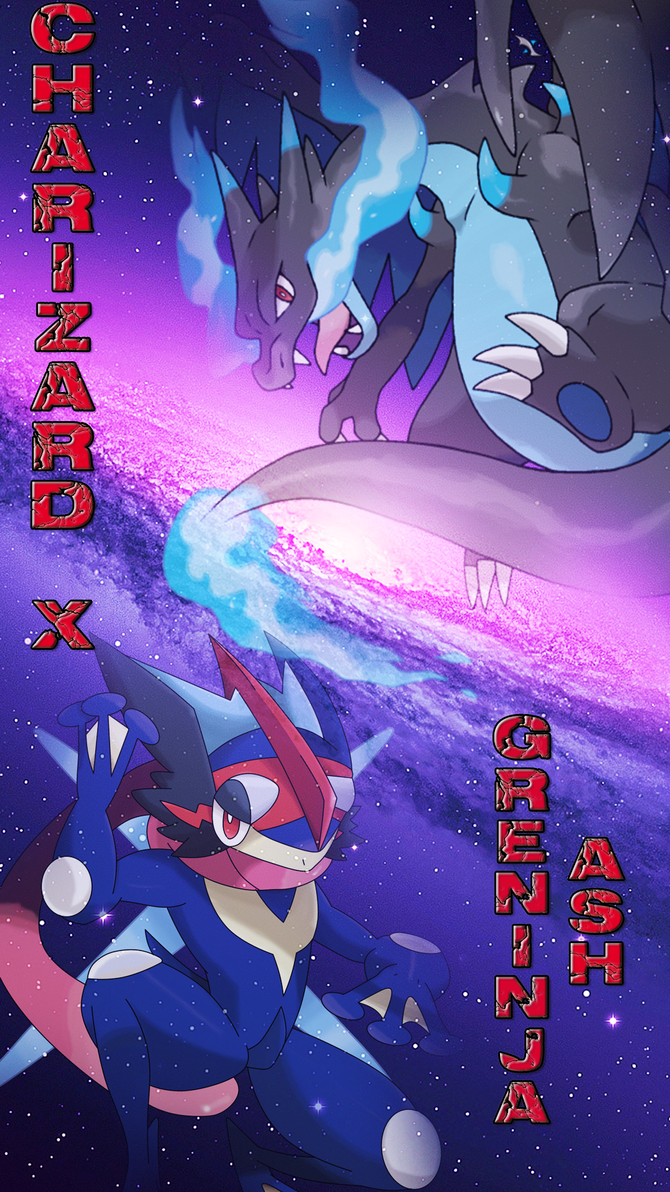 Charizard X And Greninja Ash Iphone Wallpaper By Bloody Sama