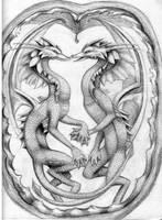 Water dragons by Acaciacat