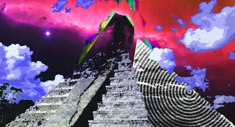 Mayan pyramid in-G-go by GiOpUnK