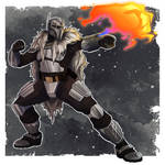 Commander Wolffe in Mandalorian armour