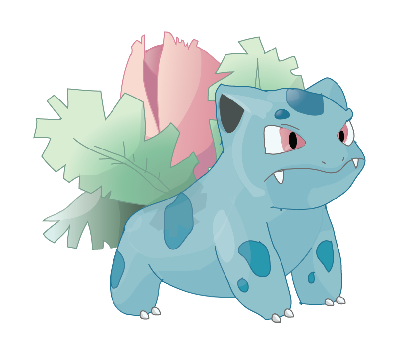 Ivysaur Illustrator by AlliCali