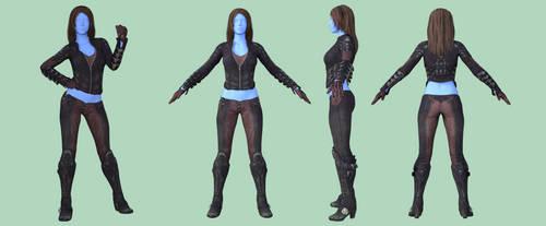 BAC Talia Al-Ghul Outfit for Genesis 8 Female