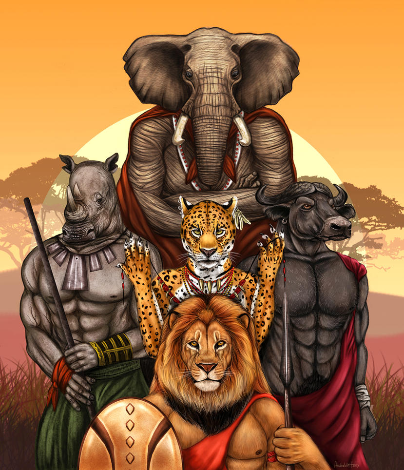 The Big Five by AnsticeWolf