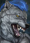 Big angry Wolf portrait