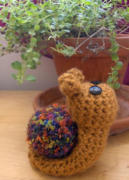 Crochet Amigurumi Snail by PerilousBard