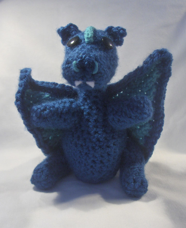 Plush Amigurumi Blue Dragon by PerilousBard