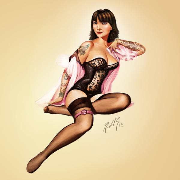 The Tattooed PinUp by CaptainPeru