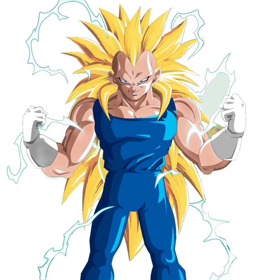 SSJ3 Vegeta Render v2 by DBPRIME on DeviantArt