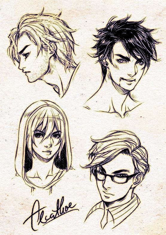 bishonen sketches by Alcathoe