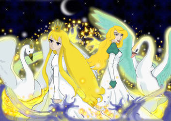 :Swan Princesses: by HumanStick