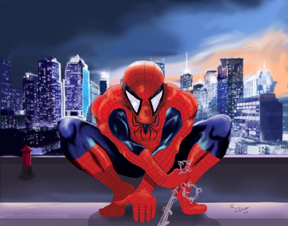 Spider-Manhattan by TheArtOfaMadMan