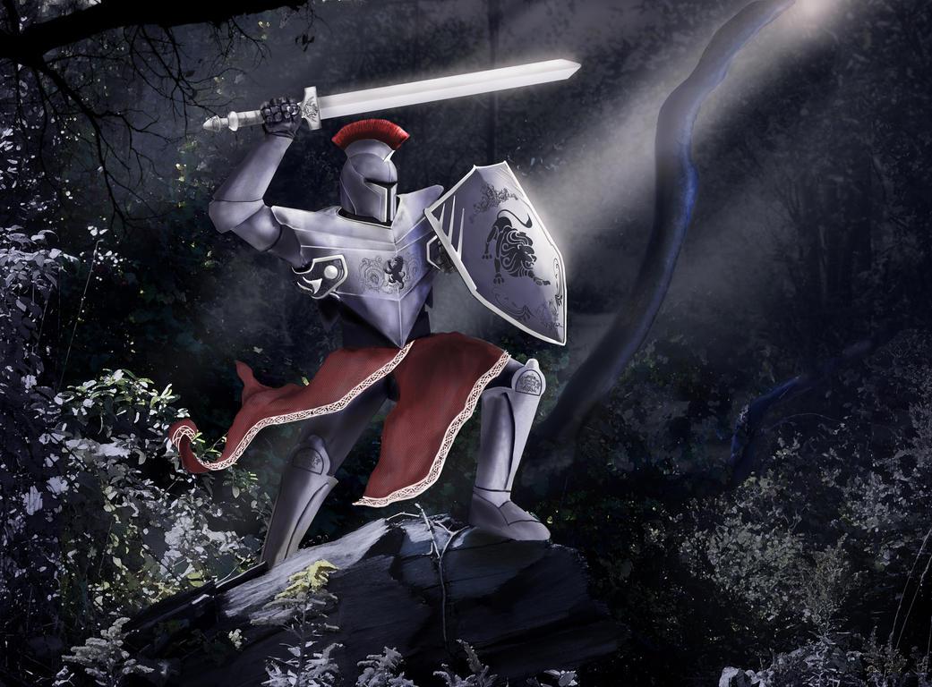 Wild Knight by TheArtOfaMadMan