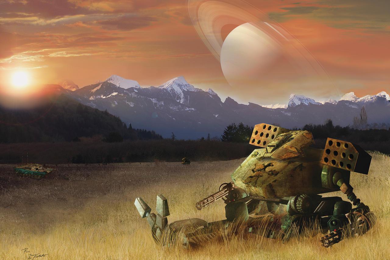 Distant Battlefield by TheArtOfaMadMan