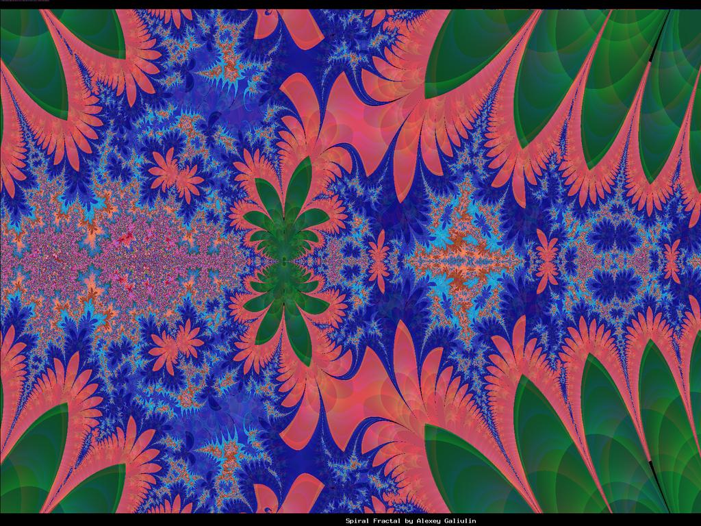 tropical swamp motif fractal by pgmatg