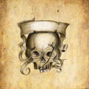 Banner And Skull Motif