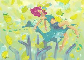Summer dip by Chayemor