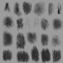 Aaron Blaise hair fur brushes Set 5 for CSP