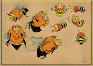 Bees character design