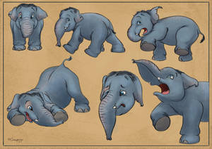 Elephant character design