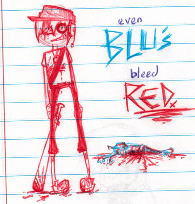 Even BLUs bleed RED. by Sotoro-Bukia