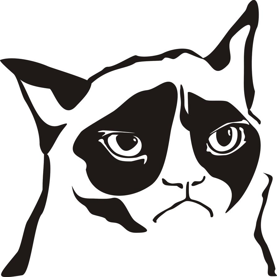 clipart grumpy cat - photo #50