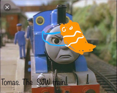 Tomas the SJW train  by Lord-Lily