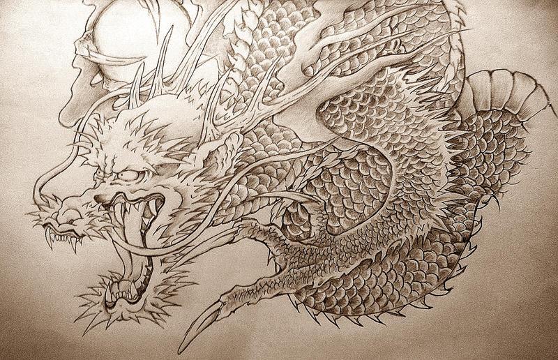 Line Art Dragon : Dragon drawing by khalif on deviantart