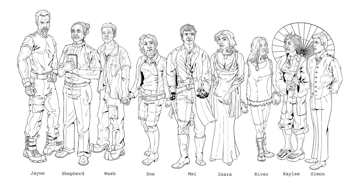 Firefly drawing tv show for Serenity coloring pages