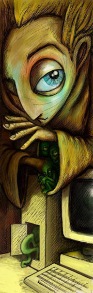 The gremlins in the machine by Gnomosapien
