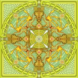 Mushroom Man Mandala III by Gnomosapien