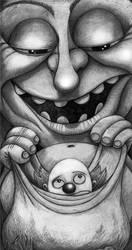 Clown in a bag by Gnomosapien
