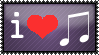 I love music - stamp by DeidaraDeathNote