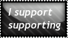 I Support supporting by DeidaraDeathNote