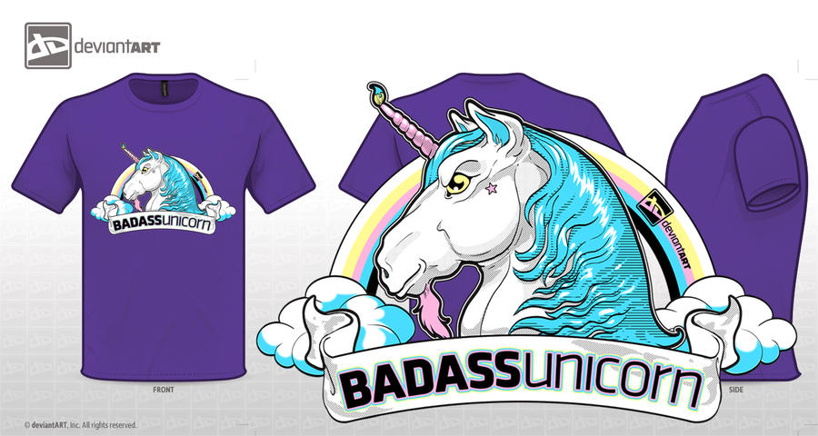 BADASS unicorn by Brhinah