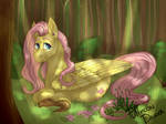 Fluttershy In The Woods by FullmoonDagger