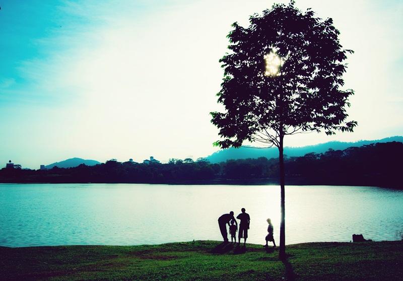 One Blue Evening. by aeniEz