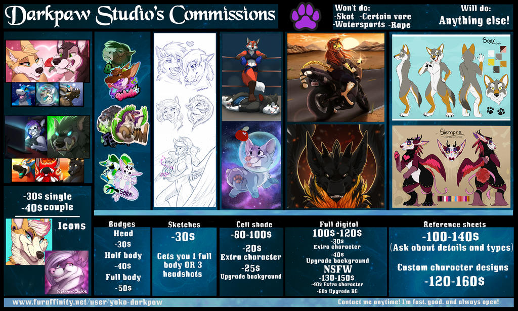 New Prices by DarkpawStudios