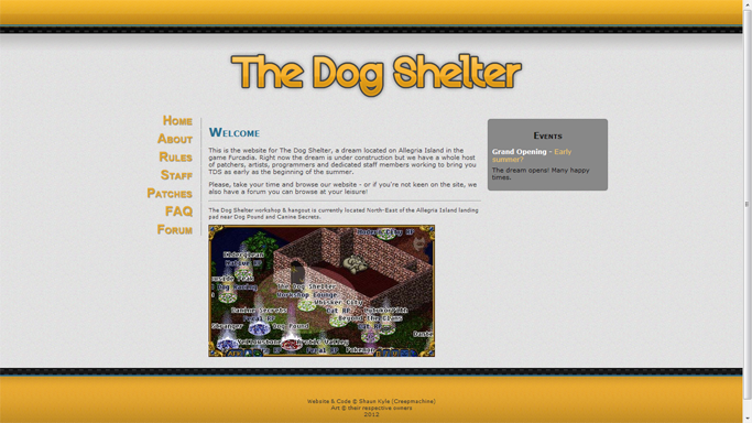 The Dog Shelter website - IT'S ALIVE by creep-machine