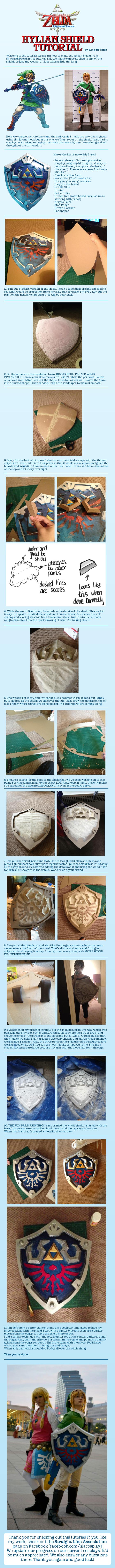 The Legend of Zelda Hylian Shield Cosplay Tutorial by King-Bobbles