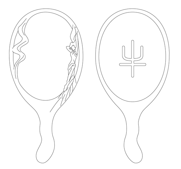 Sailor Neptune Deep Aqua Mirror Trace by King-Bobbles
